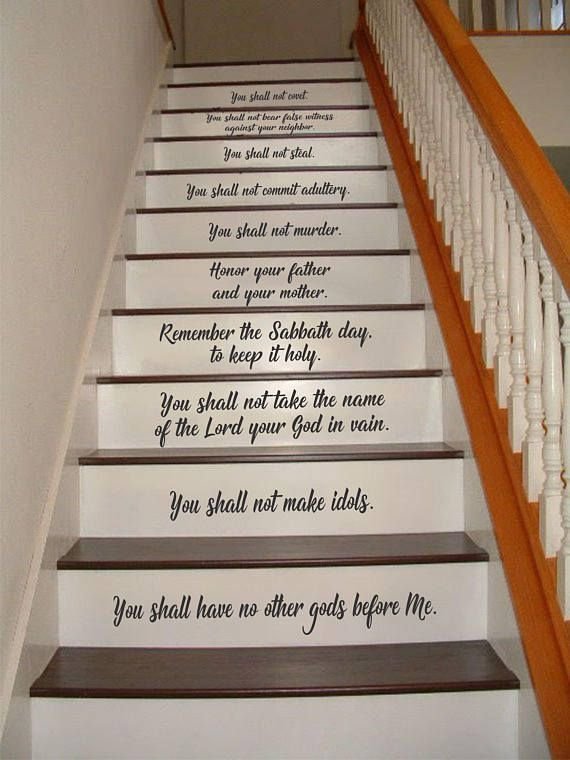 Stair Riser Decals Will Add A Nice Touch To Your Staircase Letters Are Cut 3