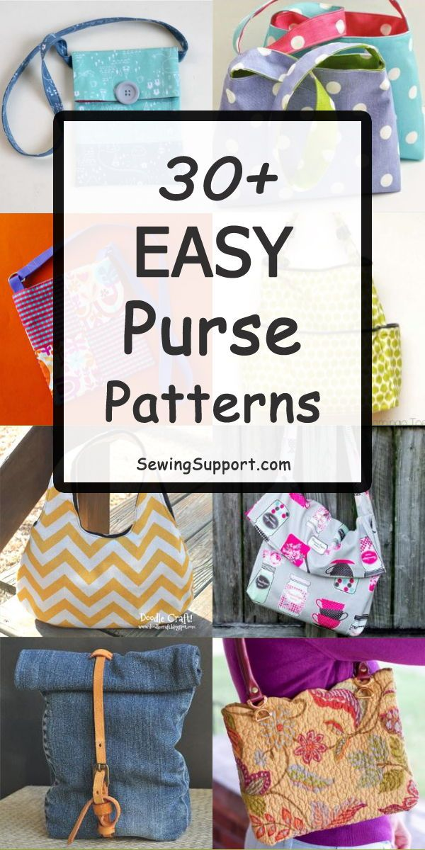 Over 30 Free & Easy Purse Patterns, tutorials, and diy sewing projects. Simple s…