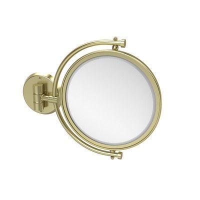 Allied Brass Universal Extendable Mirror Magnification: 2x, Finish: Satin Brass