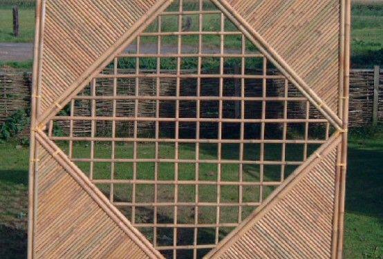 Bamboescherm Robuust met ruit in kader | Gardenonline | Schaduwdoeken en terrasoverkappingen