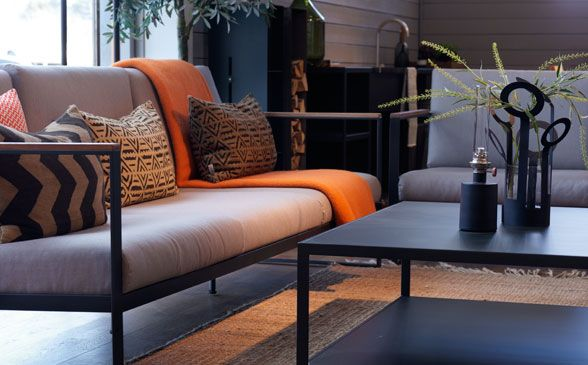 From our store south of #Stockholm. New #outdoor series #easy from swedish #Röshults. #design #table #sofa #armchair