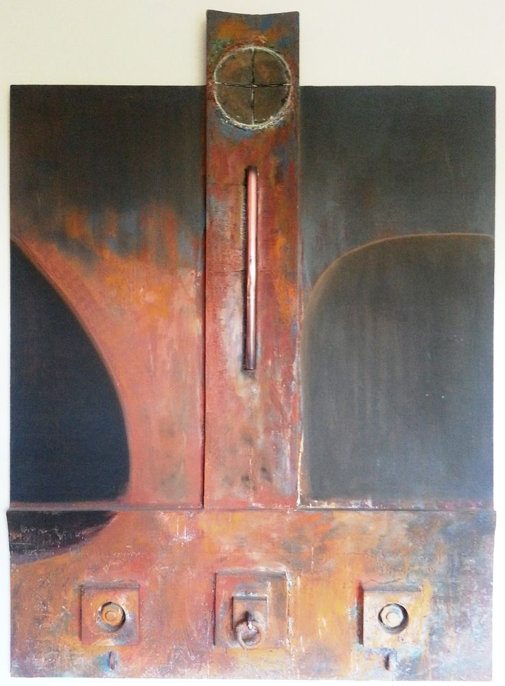 Very large work by Arthur Dagley - Unknown (copper, resin and wood)