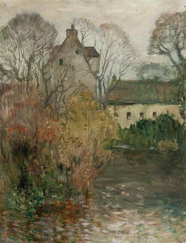 From the Artist's Garden, Gatehouse of Fleet, 1912 by Alick Riddell Sturrock (Scottish 1885-1953)