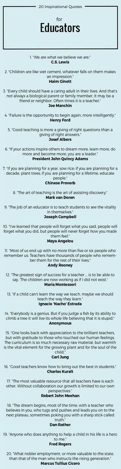 20 Inspirational Quotes for Educators