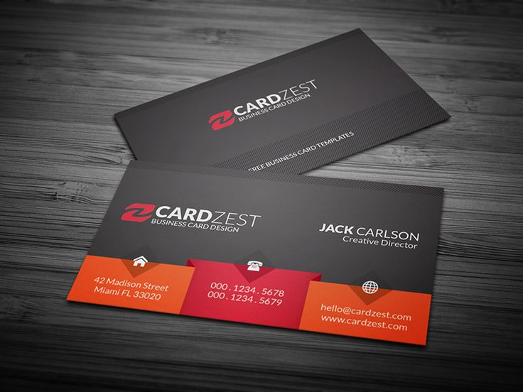 201 best Free Business Card Templates images on Pinterest - name card format
