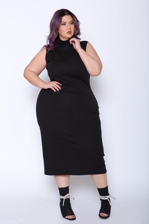 Essential Mockneck Bodycon Dress in 2019 | cute | Dresses, Black ...