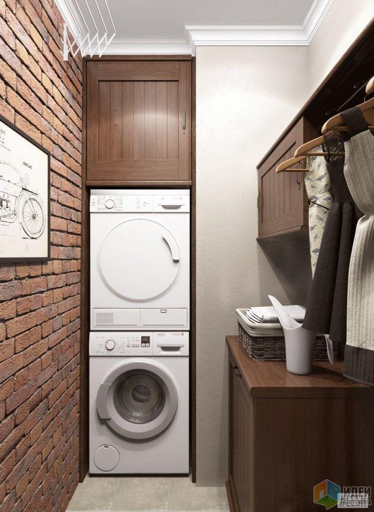 В просторной квартире заказчиков нашлось место и для отдельной прачечной, в которой разместились стиральная и сушильная машины и шкафы для хранения, изготовленные, как и основная часть мебели, на заказ.