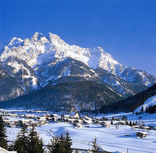 Steinplatte.  I learned to ski here, even though I fought my family tooth and nail every time they offered me any help.  --Waidring, Austria