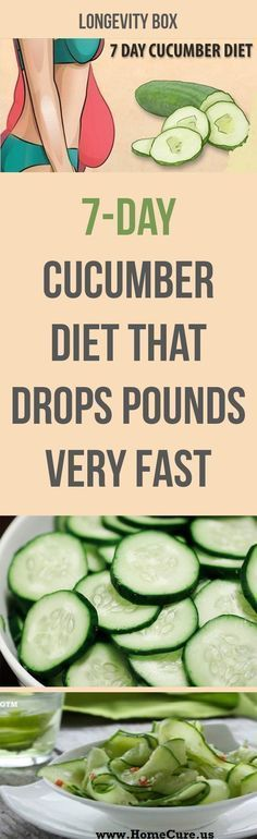 7-Day Cucumber Diet (With an Exercises Plan) That Drops Pounds Very Fast