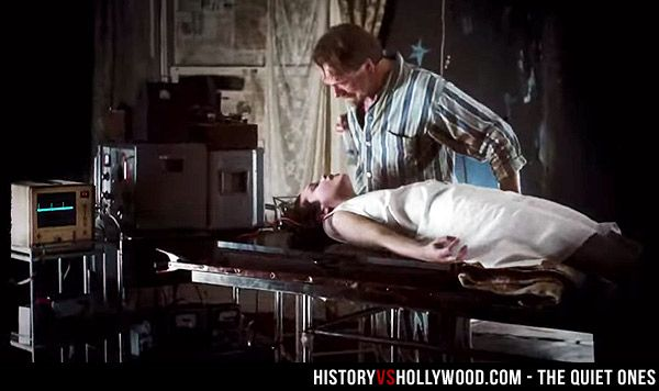 Jared Harris attempts to free the poltergeist that won't let go of Olivia Cooke in The Quiet Ones horror movie. More on the real events behind the movie here: http://www.historyvshollywood.com/reelfaces/quiet-ones/