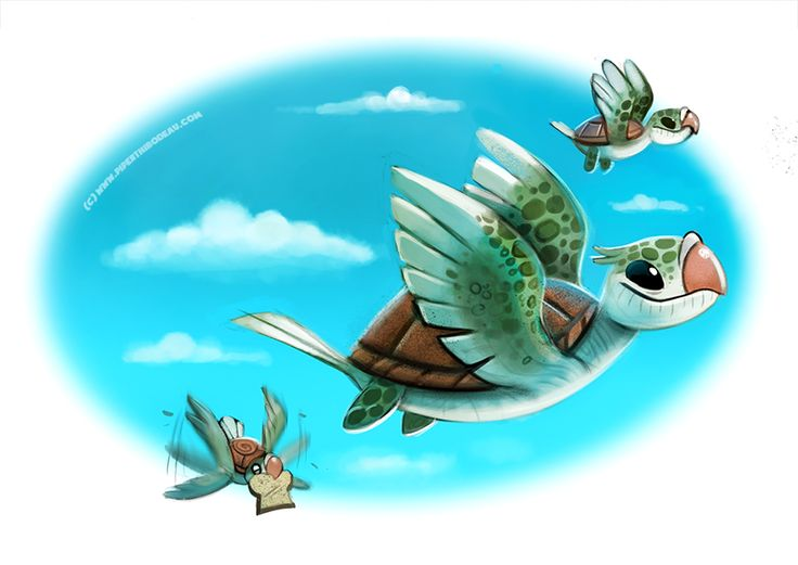 Daily Paint #1003. Turtle Doves by Cryptid-Creations.deviantart.com on @DeviantArt