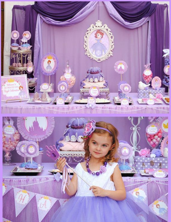 SOFIA Party - COMPLETE - Disney Princess Party - Sofia the First Party - Girls Birthday Party - Woman - Bridal Shower -Purple Princess Party...