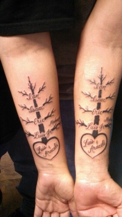 Couple tattoos for your kids tattoos that i love for Name tattoos for kids