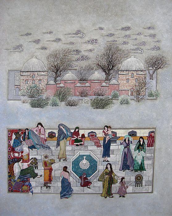 Karlı Havada Hürrem Hamamı | Hamamlar | Collections | Fine Islamic Arts | Şermin Ciddi