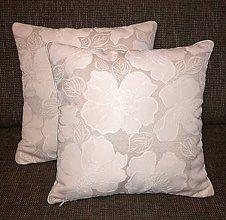 Úžitkový textil - **Biely KVET** 45x45cm - 7690248_