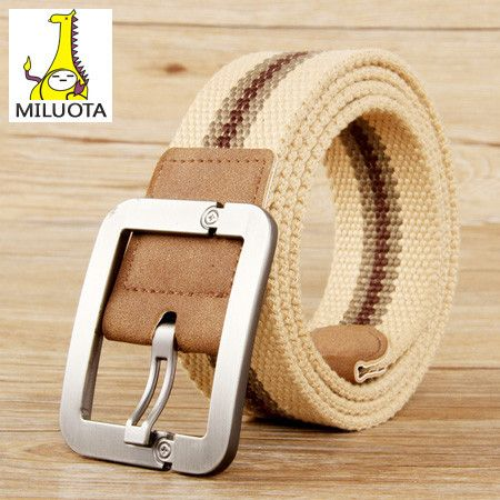 Belts for men Fashion Casual pin buckle canvas belt men real leather fashion men canvas belts