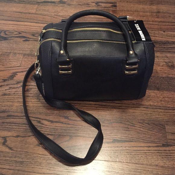 Steve Madden purse Black with gold hardware...never used Steve Madden Bags Satchels