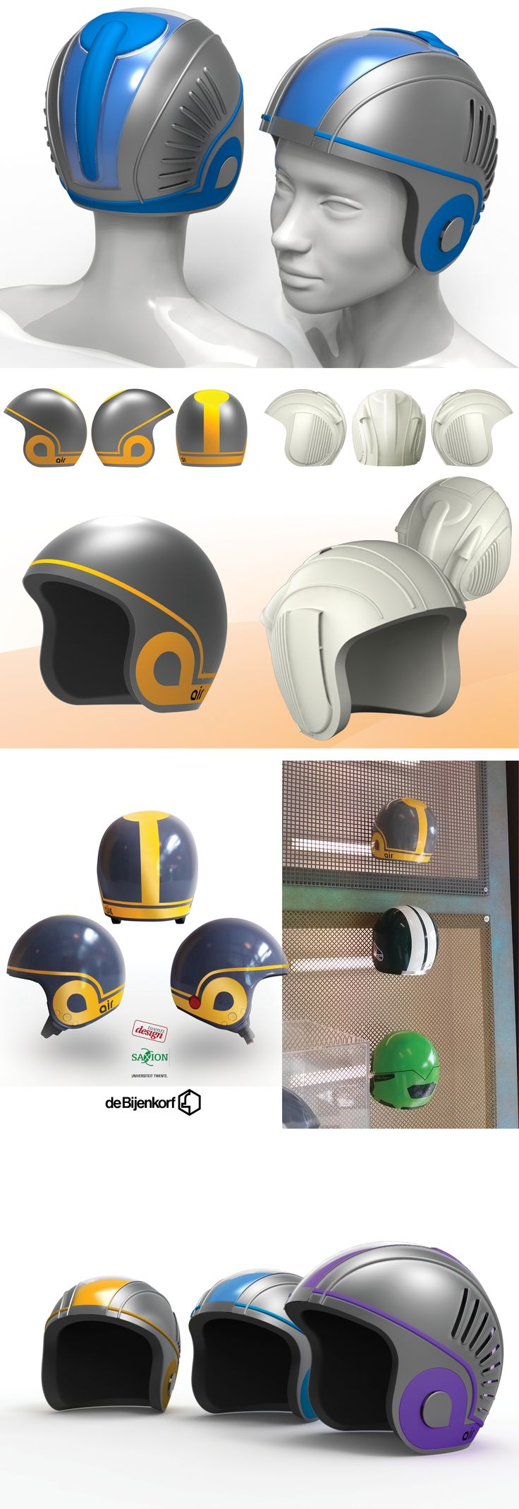 The Dyson Helmet. 2D and 3D design in collaboration with Karlo Finkers. Displayed at the 'Twente Design 2013' exposition at the Bijenkorf, Enschede.