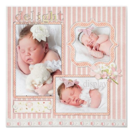 scrap book page baby girl
