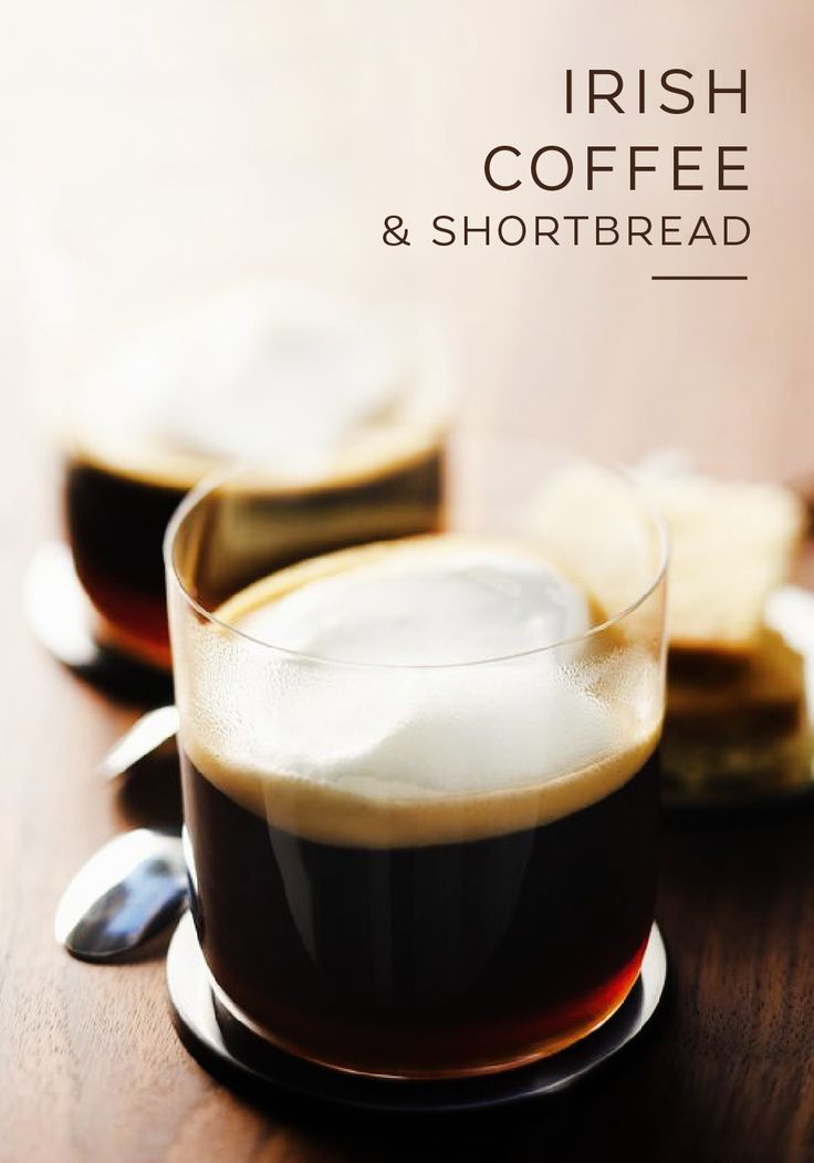 Warm yourself up in body and soul with this classic Irish Coffee and Shortbread recipe from Nespresso. Enhance this intense coffee beverage with Fortissio Lungo Grand Cru. This sweet pairing makes for an excellent afternoon coffee break or an unbeatable after-dinner indulgence.