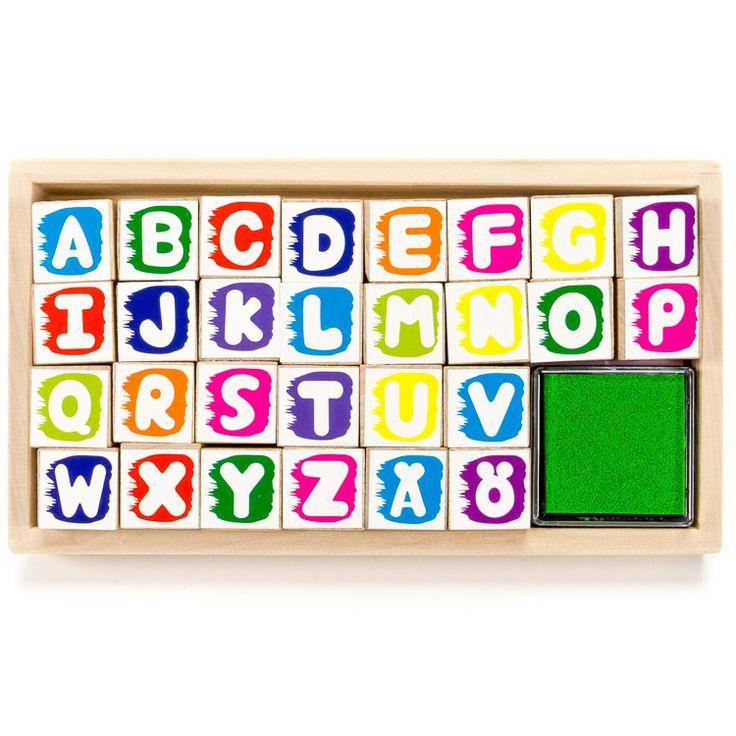 ABC nyomdakészlet  A betűk és írás gyakorlása sokkal mókásabb egy ilyen szuper nyomdakészlettel.