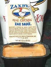 i love zaxby's! home made zax sauce. 1/2 cup mayonnaise. 1/4 cup tomato ketchup. 1/2 teaspoon garlic powder. 1/4 teaspoon worcestershire sauce. 1/2-1 teaspoon black pepper. directions: mix together the mayo, ketchup, and garlic powder, blending well. add worcestershire sauce and blend well. cover the surface of sauce with lots of black pepper until just coated. blend well. repeat process covering surface with black pepper and stir until blended well. refrigerate for at least two hours.