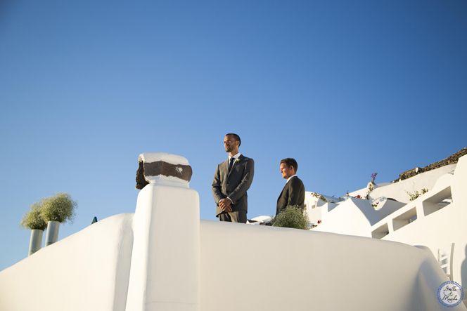 Groom   Santorini Wedding by Stella and Moscha - Exclusive Greek Island Weddings   Photo by Nikos P. Gogas