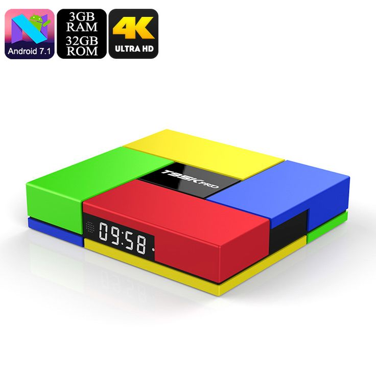 T95K Pro 4K TV Box - Android 7.1, Octa Core CPU, 3GB RAM, 4K, Dual Band Wi-Fi, Kodi, SPDIF, 32GB Memory, Micro SD Slot - T95K Pro 4K TV Box with Oct core CPU and 3GB RAM runs on the Android 7.1 OS and brings fun for all the family as your entertainment and media hub