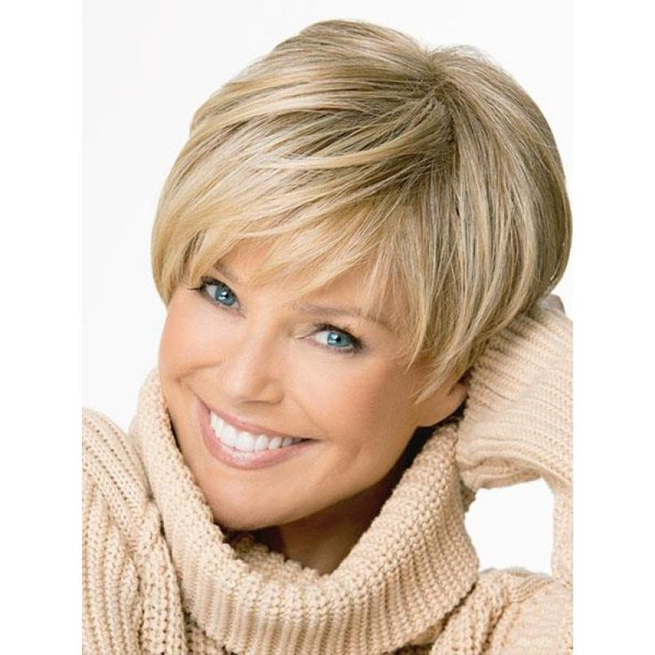 Modern Short Straight Layered Bob Haircut Synthetic Hair Monofilament Top Wig