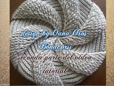 crochet swirl beret II - YouTube