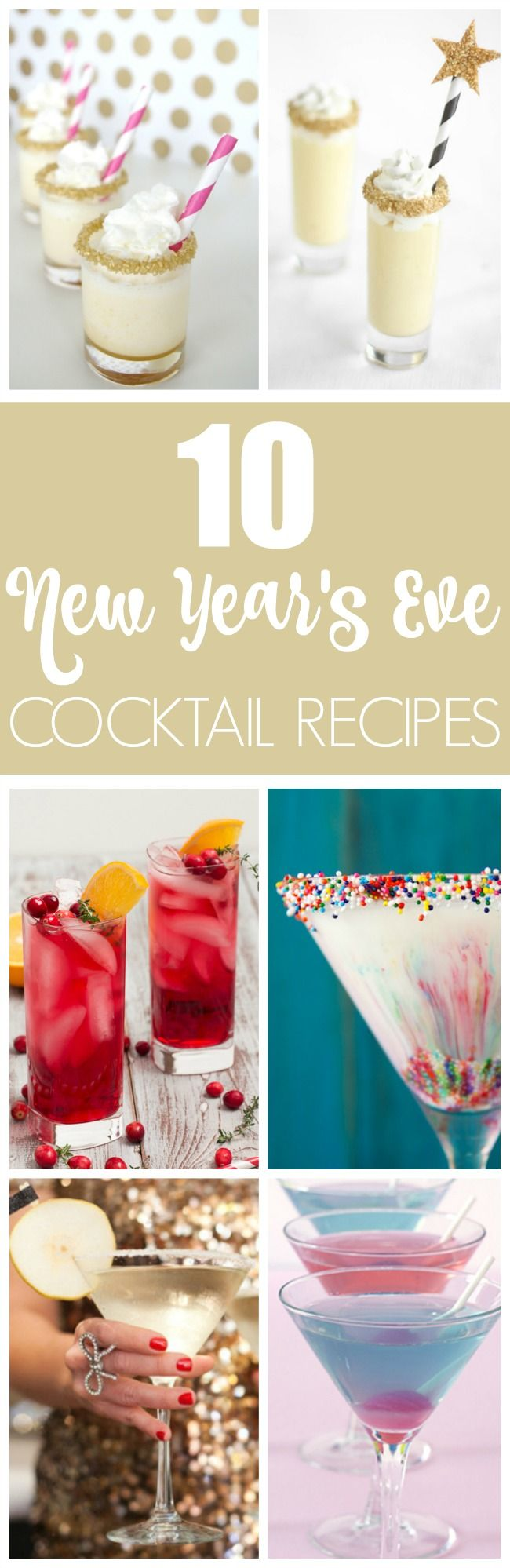 10 Fun Cocktail Ideas For Your New Year's Party | Pretty My Party