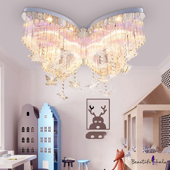Girls Bedroom Led Butterfly Shaped Raindrop Chande…