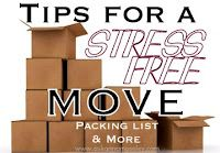 moving: Stress Free, Ideas, Moving Tips, Free Moving, Packs Checklist, Stress Fre Moving, House, Great Tips, Packing Checklist