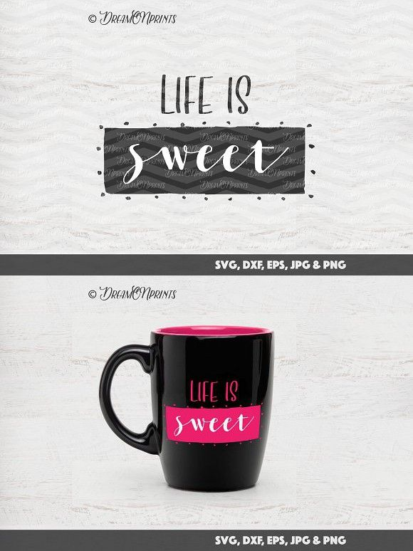 Life Is Sweet Svg Vector Files Kids Design Vector File Life