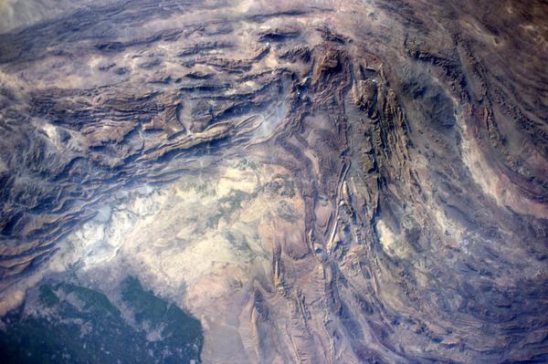 EarthArt over Afghanistan.  Wild geology!