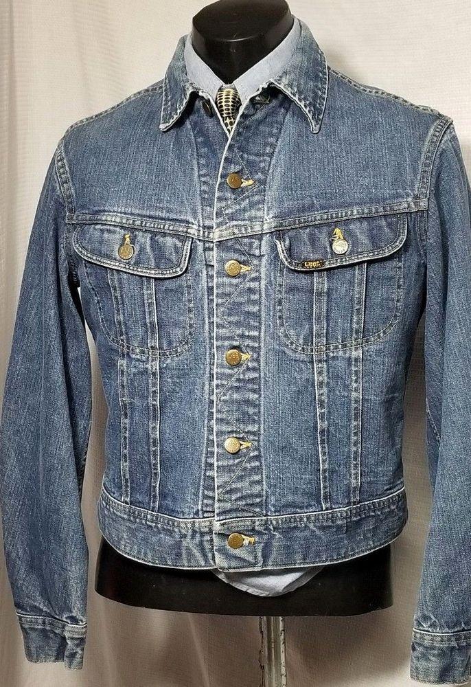 Made In The Usa Lee Jean Jacket Vintage Denim Patd Label Men S Size 44 1960 S Lee Vintage Denim Lee Jeans Clothes