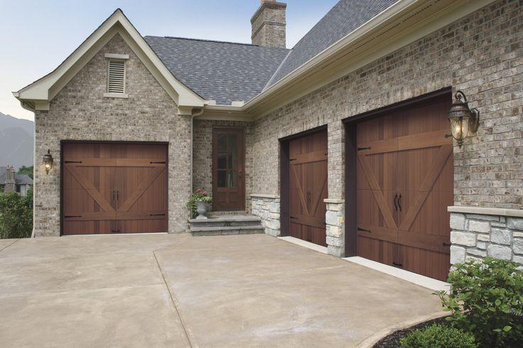 Decoration: Seductive Wood Garage Doors Design With Dark Knop And ...