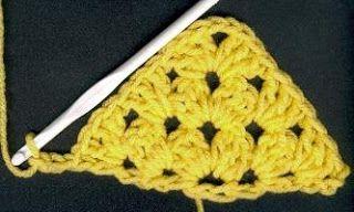 Half Granny Square Instructions- to make a shawl