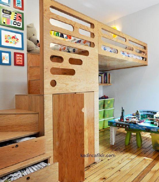 cekmeceden merdivenli modern yatak odasi dekorasyon ornegi | Kadınca Fikir