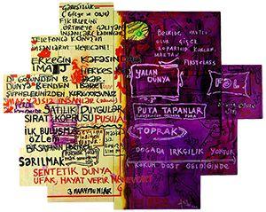 Yigit Yazici Painting inspired by sketchbooks