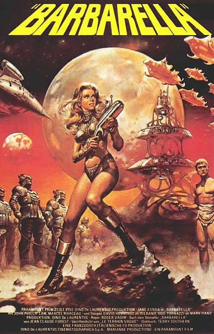 Comic book bliss. Saw at 14 and realized I liked movies off beaten path. Is that Jane Fonda floating in space naked during opening credits? Cult movie classic.