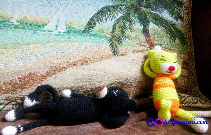 Схема вязания игрушки Японский кот. The scheme of knitting toys Japanese cat