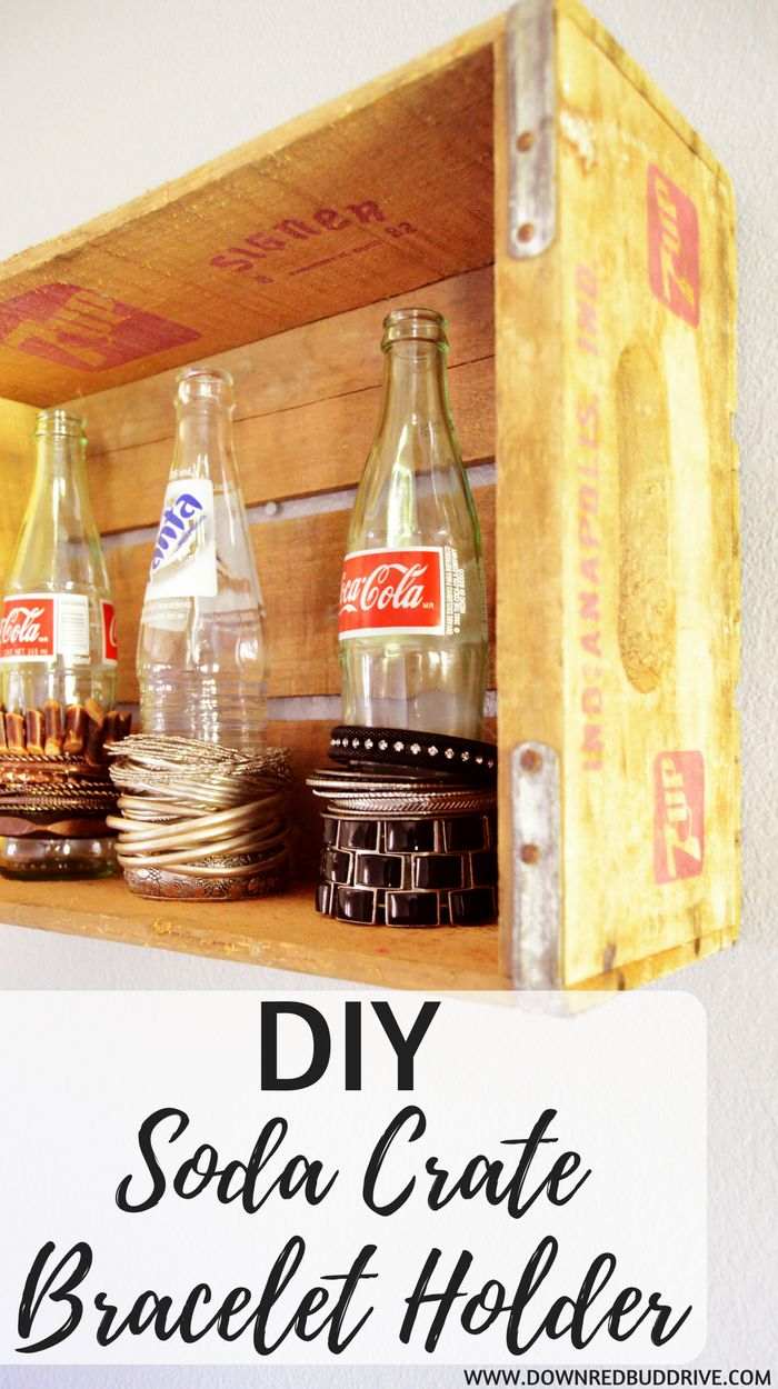 DIY Soda Crate Bracelet Holder   Upcycled Soda Crate   Glass Soda Bottles   Mother's Day DIY   Easy Bracelet Storage   DIY Bracelet Storage   Bracelet Display   Upcycled Soda Bottles   Glass Soda Bottle Porject   Easy DIY Project   Upcycling   DIY Jewelry