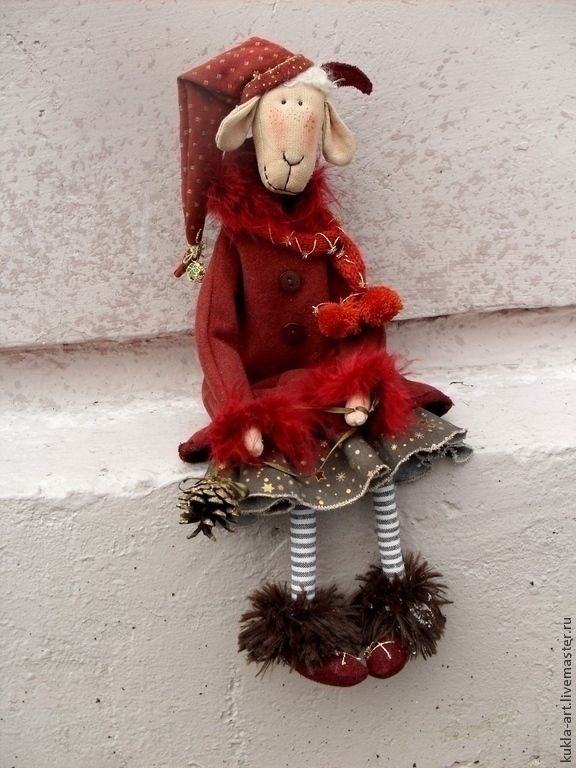 "Textile Goat Toy   Текстильная игрушка ""Коза Глафира"""
