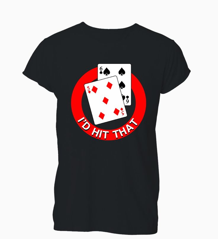 >> Click to Buy << I'd Hit That Funny Casino Blackjack Rude Offensive T-Shirt Womens  Fashion Brand Hipster Slim Top O-Neck Top Tee #Affiliate