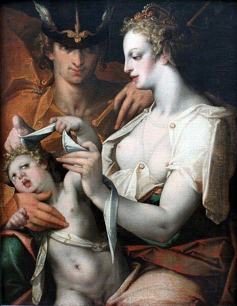 Venere e Mercurio bendano amore 1597 Germanischer National Museum Nuremberg