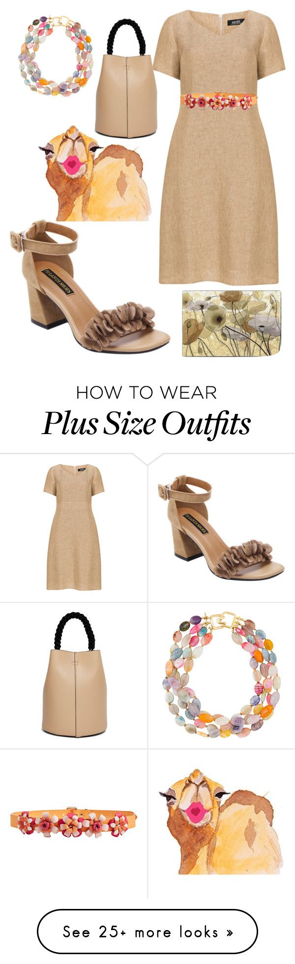"""""""plus size elise"""" by aleger-1 on Polyvore featuring navabi, Kenneth Jay Lane, Topshop and Marina Hoermanseder"""