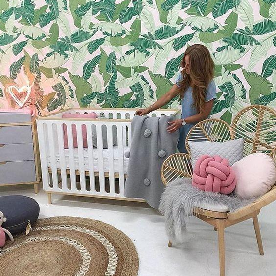 inspiracin de estilo tropical para las de bebs fotografas de cuartos de bebs decorados