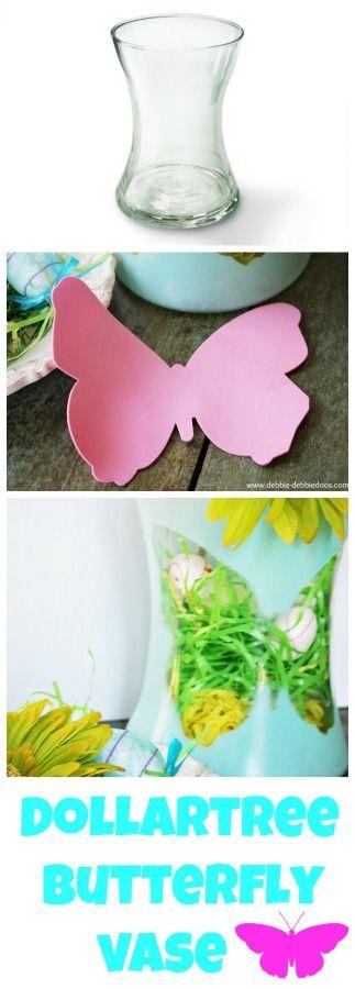 Dollar tree Butterfly silhouette vase