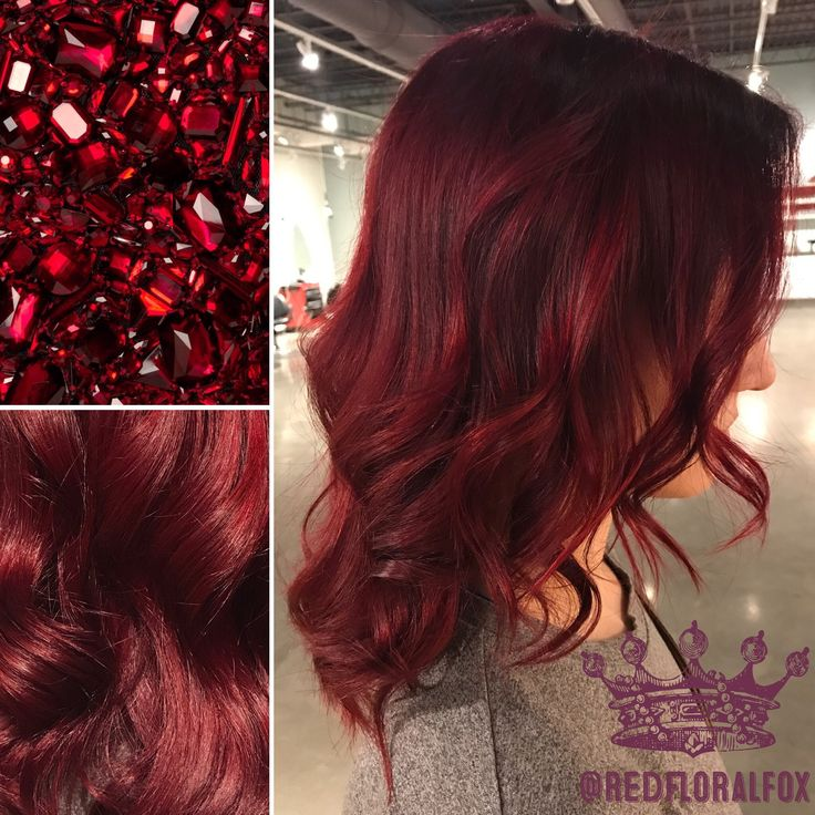 Ruby Red hair color by Taylor Lowe at Moxie Hair Salon in St. Paul, MN: @redfloralfox